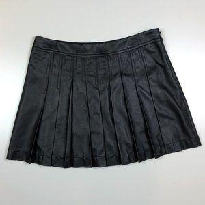 Bcbg maxazria black faux leather tennis skirt